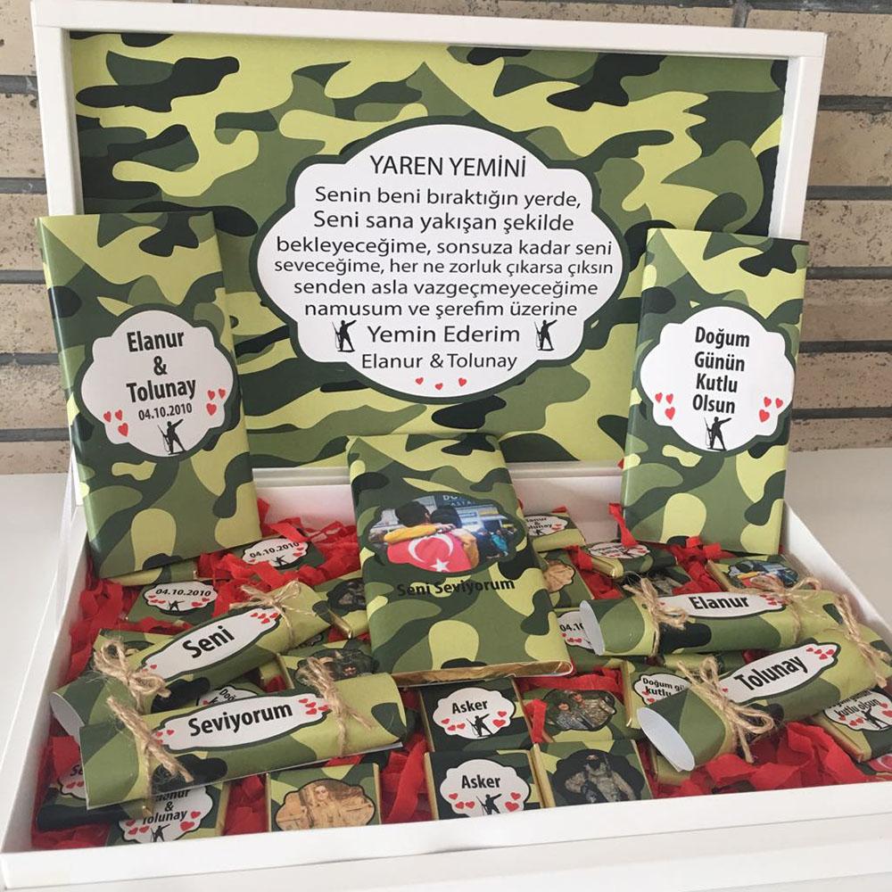 Asker Çikolatası Yaren Yeminli-Özel Paket Büyük Boy