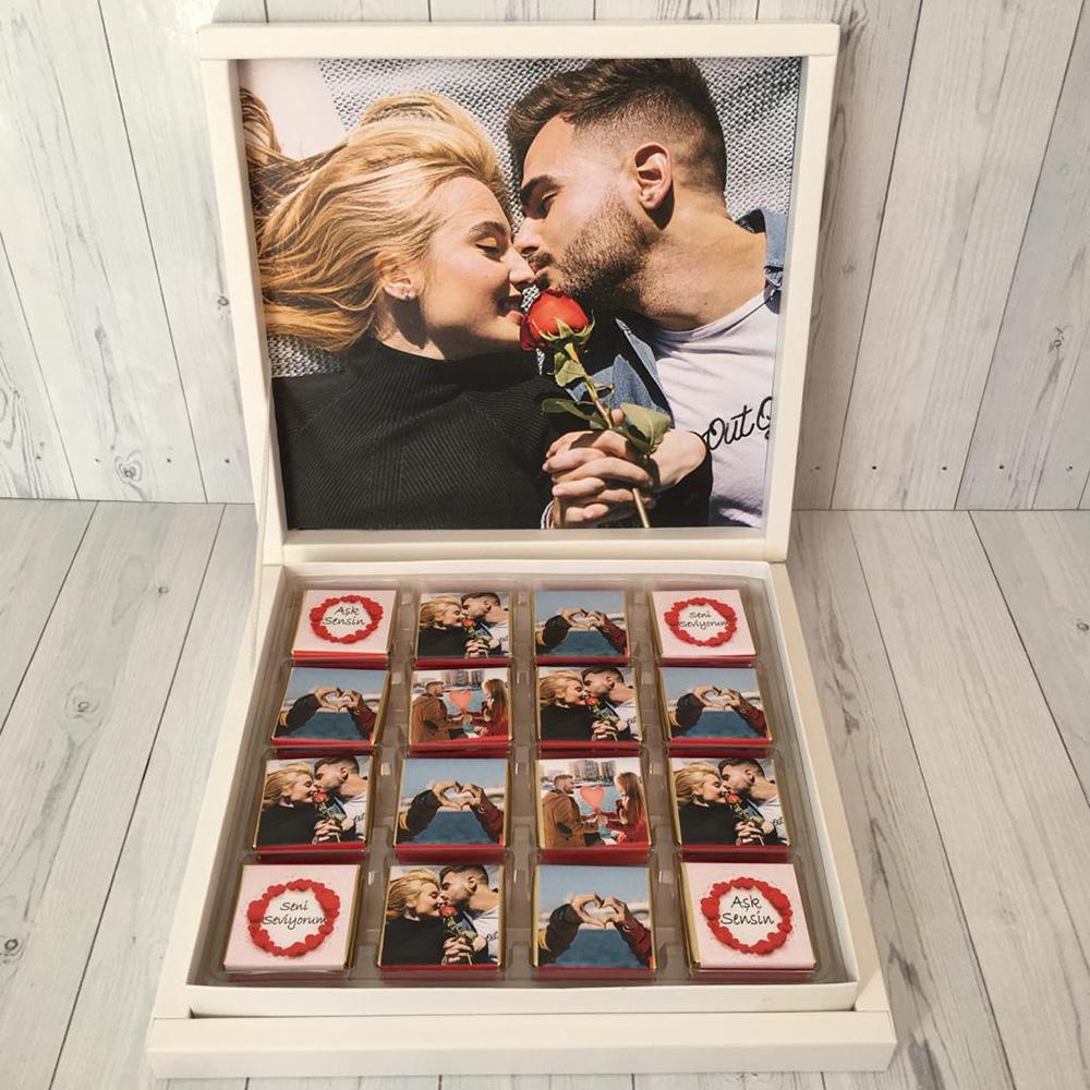 Sevgiliye Hediye Çikolata Fotoğraflı