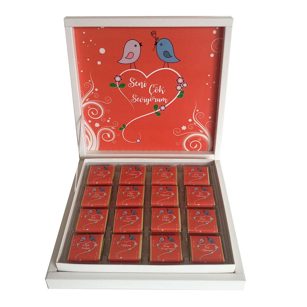 Sevgililer Günü Hediyesi çikolata -  Aşık Kuşlar