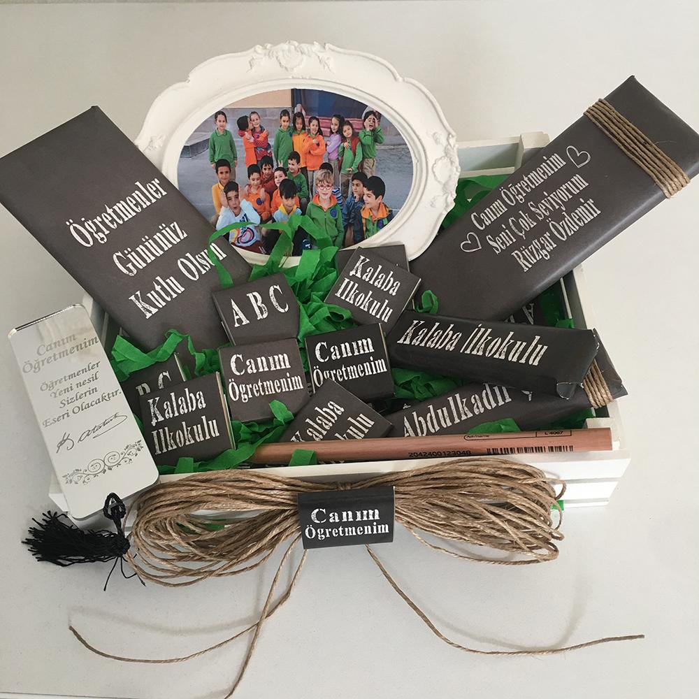 Öğretmene Hediye Paketi - Kasalı Çikolata