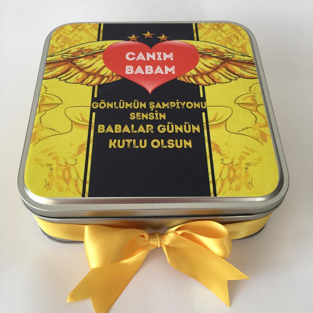Babalar günü taraftar çikolatası sarı lacivert
