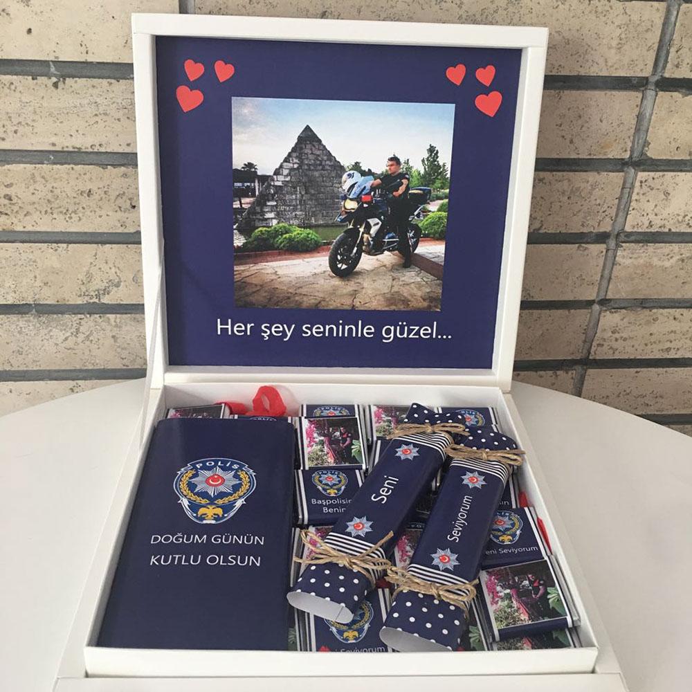 Polis Çikolatası Fotoğraflı-Doğum Günü