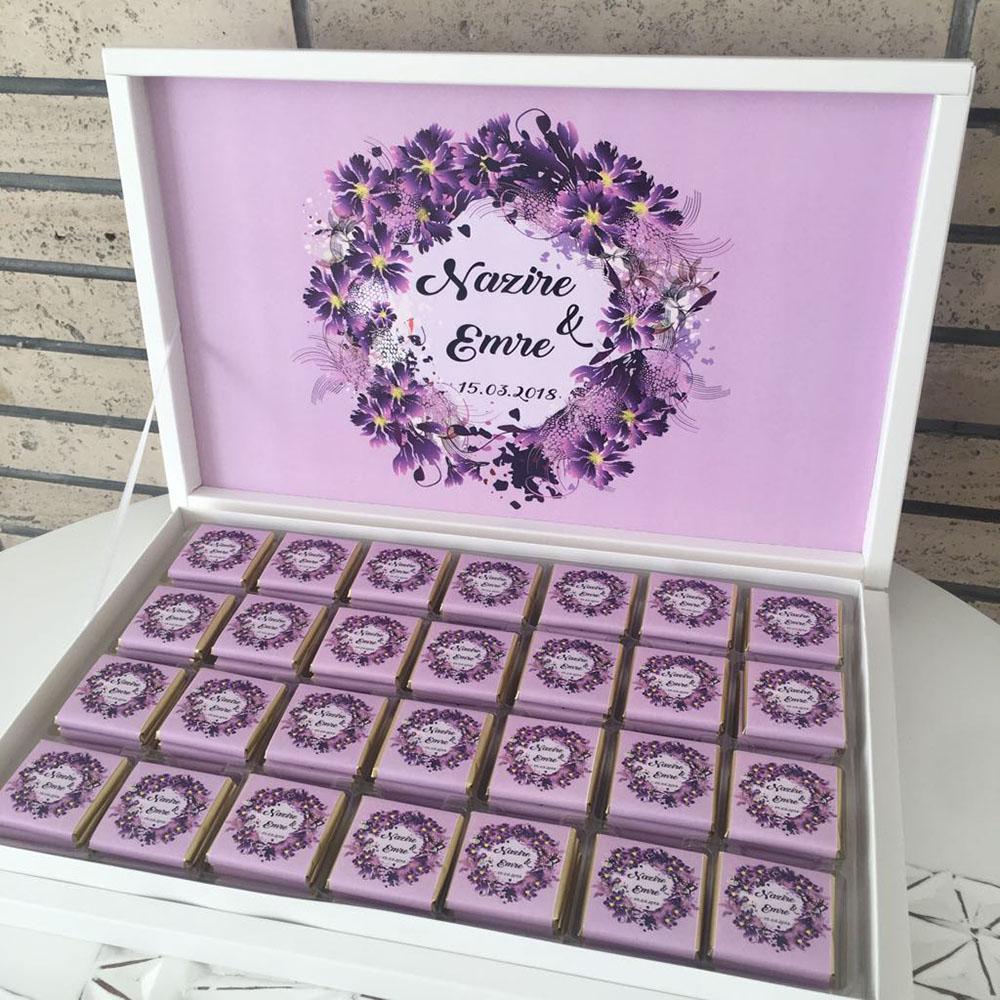 Kız İsteme Çikolatası-Çiçekli